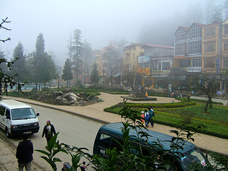 Because of the mountainous terrain of Sapa, many days are misty and cloudy.