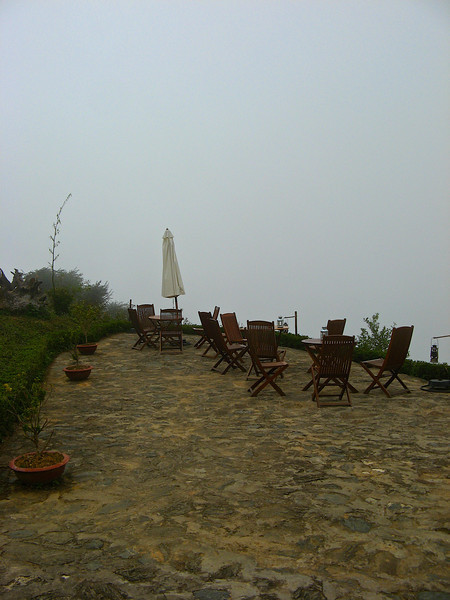 There's also a large patio outside, however, there's not much of a view if the weather is being typical cloud and fog.