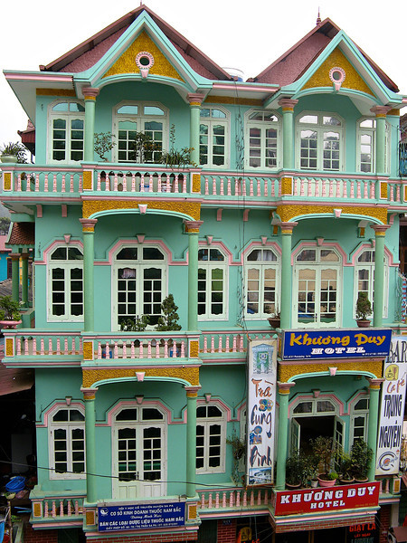 Many of the buildings in most Vietnemese cities are influenced by French architecture.
