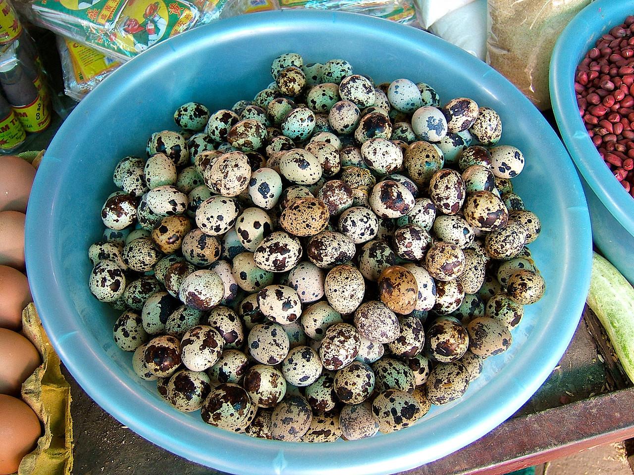 …bird eggs are also a popular delicacy.