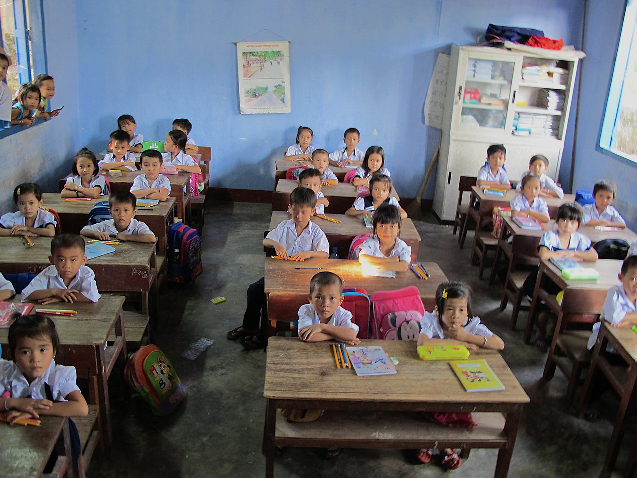 Kids here can always use basic supplies like rulers, pencils, pens, paper, solar calculators, etc.