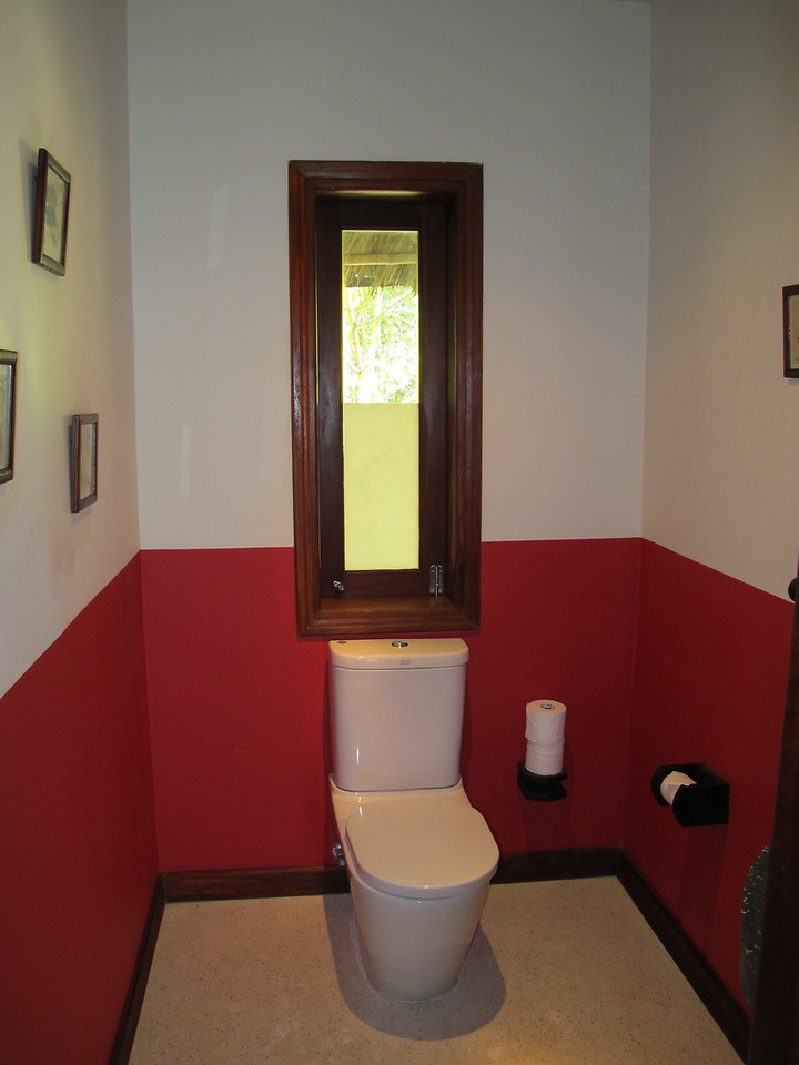 Off the main entry is a small guest bathroom.