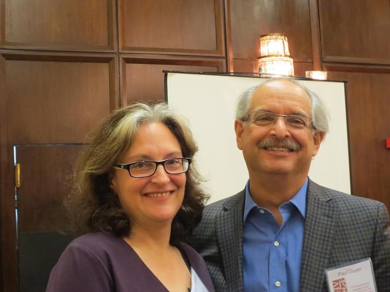 Rachel Zuckert and Paul Guyer<br /> Photo: ED
