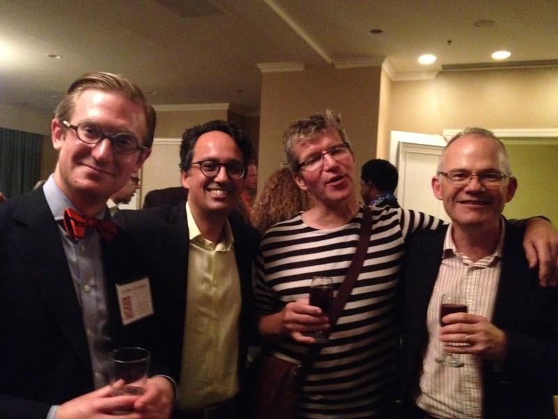 Andrew Huddleston, Dominic Lopes, Rob Hopkins, and Derek Matravers<br /> Photo:  SF