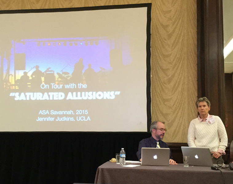 Jennifer Judkins and Michael Rings at the panel on Cover Versions in Rock and Pop Music<br /> Photo: CF