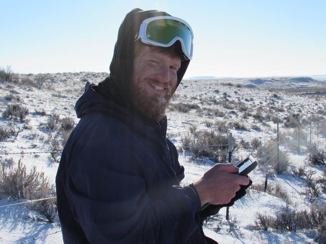 Zach McKeown using a Google Nexus Tablet for Landmark at APR