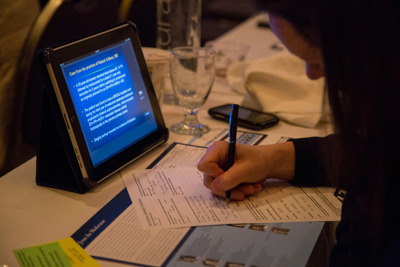 Chicago, IL - ASCO 2013 Annual Meeting: - Research to Practice: Monday night session at the American Society for Clinical Oncology (ASCO) Annual Meeting here today, Wednesday June 19, 2013.  Over 30,000 physicians, researchers and healthcare professionals from over 100 countries are attending the meeting which is being held at the McCormick Convention center and features the latest cancer research in the areas of basic and clinical science. Photo by © ASCO/Todd Buchanan 2013 Technical Questions: todd@toddbuchanan.com; ASCO Contact: photos@asco.org