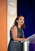 Featured Speaker and 2012 CCF Young Investigator Award recipient, Breelyn A. Wilky, MD, speaks during Conquer Cancer Foundation Dinner