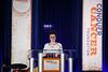 Featured speaker Brittany Sullivan speaks during Conquer Cancer Foundation Dinner