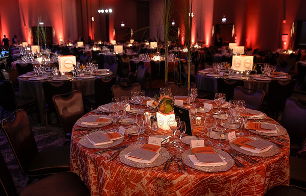 Room Set in Wright Ballroom during Conquer Cancer Foundation Dinner