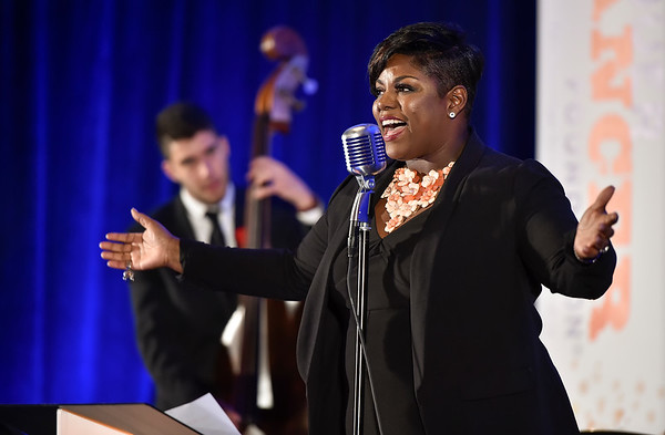 Tina Jenkins Crawley and Trio performs during Conquer Cancer Foundation Dinner