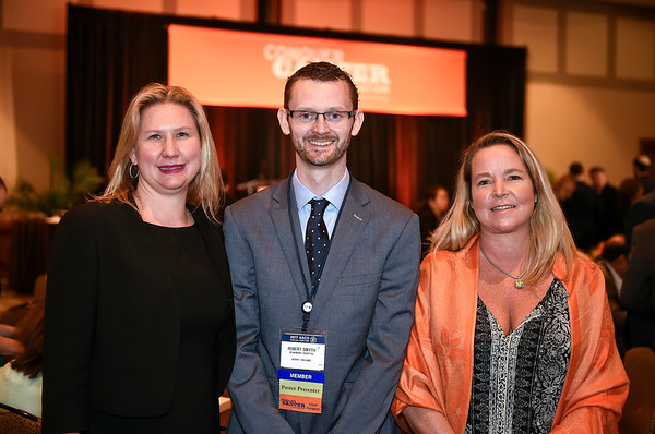Dr. Jennifer King and Dr. Robert Smyth, Lung Cancer Alliance YIA recipient during 2017 Grants & Awards Ceremony and Reception