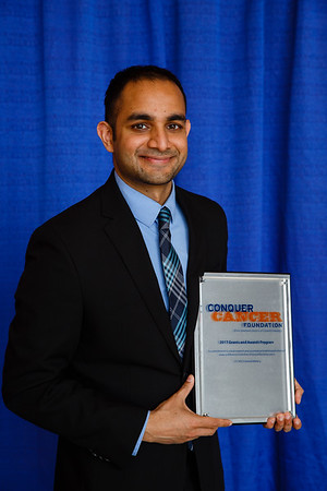 2017 Young Investigator Award Recipient Rajarsi Mandal, MD during 2017 Grants & Awards Ceremony and Reception