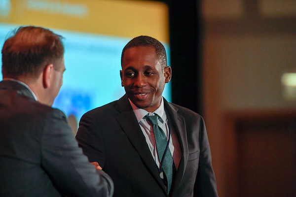 2017 IDEA Recipient Joseph Bernard, MD with Thomas G. Roberts, Jr., MD, Chair of the Conquer Cancer Foundation Board of Directors, during 2017 Grants & Awards Ceremony and Reception