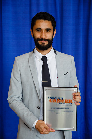 2017 IDEA Recipient Omar Pena-Curiel, MD, during 2017 Grants & Awards Ceremony and Reception