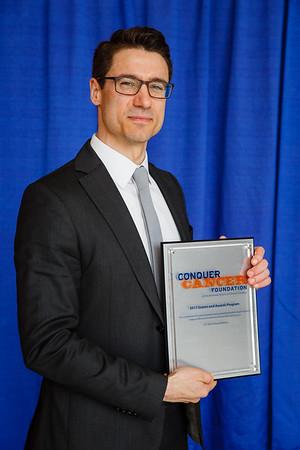 2017 Career Development Award Recipient Scott Bratman, MD, PhD during 2017 Grants & Awards Ceremony and Reception