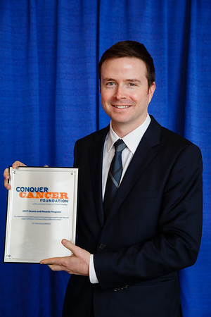 2017 Endowed Young Investigator Award in Memory of Sally Gordon Recipient Joshua Walker, MD during 2017 Grants & Awards Ceremony and Reception