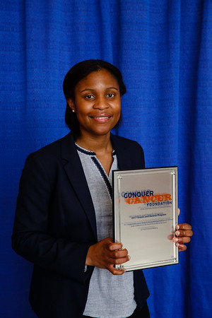 2017 Young Investigator Award Recipient Ibiayi Dagogo-Jack, MD, during 2017 Grants & Awards Ceremony and Reception