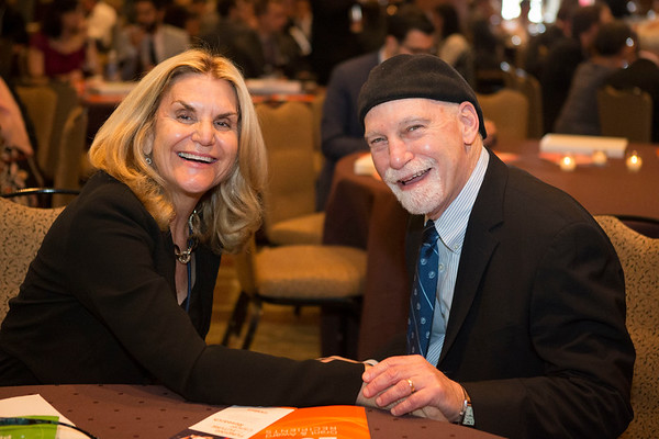 Dr. EJ Shpall and Dr. Steve Rosen during 2017 Grants & Awards Ceremony and Reception