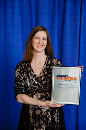 2017 Young Investigator Award Recipient Jennifer Veneris, MD, PhD  during 2017 Grants & Awards Ceremony and Reception