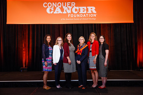 Women Who Conquer Cancer YIA Recipients with Sandra M.  Swain, MD, FACP, FASCO during 2017 Grants & Awards Ceremony and Reception
