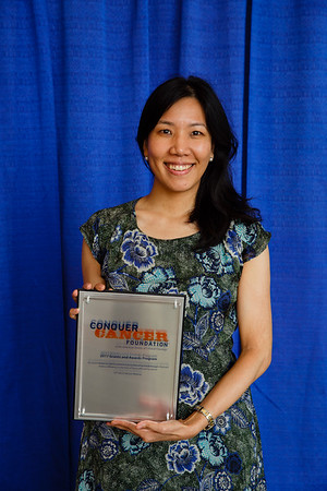 2017 Young Investigator Award Recipient Chrisann Kyi, MD, during 2017 Grants & Awards Ceremony and Reception
