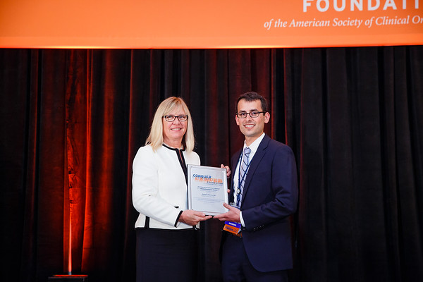 Barbro Sasson with Philip D. Poorvu, MD, during 2017 Grants & Awards Ceremony and Reception