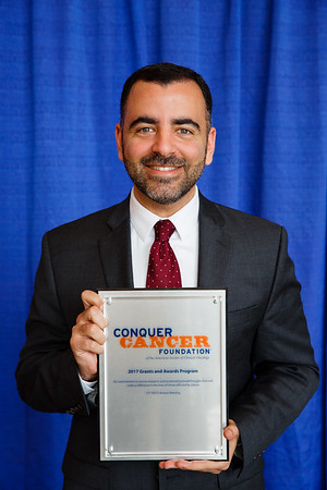 2017 Career Development Award Recipient Mark Awad, MD, PhD, during 2017 Grants & Awards Ceremony and Reception