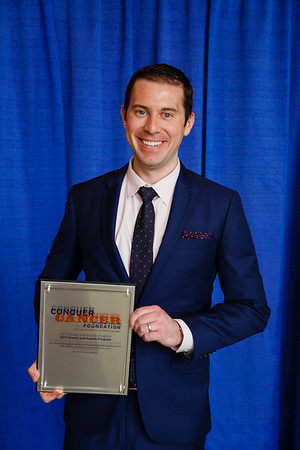 2017 Young Investigator Award Recipient Michael Cecchini, MD, during 2017 Grants & Awards Ceremony and Reception