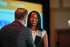 2017 Resident Travel Award Recipient Maureen Offiah, MD with Thomas G. Roberts, Jr., MD, Chair of the Conquer Cancer Foundation Board of Directors, during 2017 Grants & Awards Ceremony and Reception