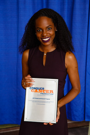 2016 Medical Student Rotation Recipient Adrienne Baksh during 2017 Grants & Awards Ceremony and Reception
