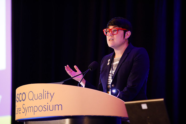 """Fumiko Ladd Chino, MD, BA, presenting abstract #230, """"Opioid-Associated Deaths in Patients with Cancer: A Population Study of the Opioid Epidemic Over the Past 10 Years"""" presents Oral Abstract Session A"""