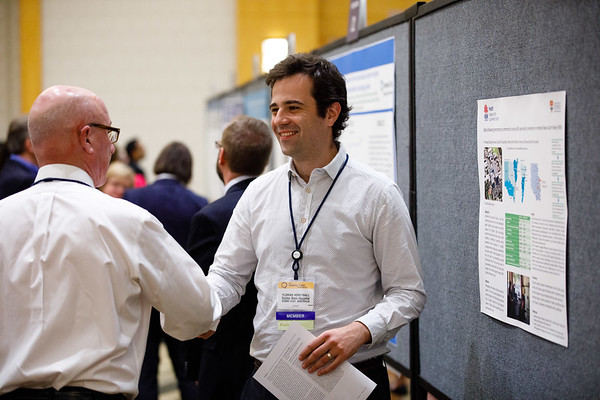 Attendees during Poster Session A