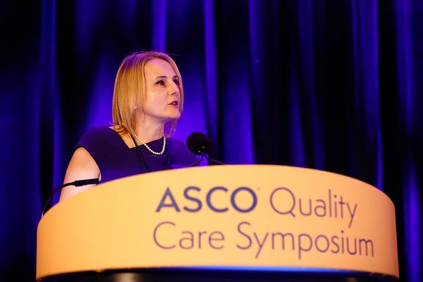 Chair, Monika Krzyzanowska, MD, MPH, FRCPC, presents Welcome of the Day