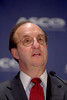 Orlando, FL - ASCO 2005 - Charles M. Balch, MD, ASCO Executive Vice President and CEO, addresses the opening press conference, Friday, May 13, 2005 at the American Society of Clinical Oncology's (ASCO) 41st Annual Meeting at the Orange County Convention Center in Orlando, Fl. The meeting attracts more than 25,000 oncologists, cancer researchers and cancer care professionals from more than 100 countries. Credit: Photo Courtesy © ASCO/Todd Buchanan 2005. ASCO Contact: Carrie Housman/Communications Dept.; 703-519-1423. Technical Questions: todd@toddbuchanan.com; 612-226-5154.