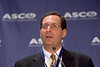 Orlando, FL - ASCO 2005 - J. Randolph Hecht, MD, addresses the Breast Cancer & Targeted Therapies News Briefing, Friday, May 13, 2005 at the American Society of Clinical Oncology's (ASCO) 41st Annual Meeting at the Orange County Convention Center in Orlando, Fl. The meeting attracts more than 25,000 oncologists, cancer researchers and cancer care professionals from more than 100 countries. Credit: Photo Courtesy © ASCO/Todd Buchanan 2005. ASCO Contact: Carrie Housman/Communications Dept.; 703-519-1423. Technical Questions: todd@toddbuchanan.com; 612-226-5154.