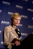 Atlanta, GA - ASCO 2006 - Sandra J. Horning, MD, President of ASCO, addresses the Opening Press Briefing, Friday, June 2, 2006 during the American Society of Clinical Oncology's (ASCO) 42nd Annual Meeting. The meeting attracts more than 25,000 oncologists, cancer researchers and cancer care professionals from more than 100 countries. Credit: Photo Courtesy © ASCO/Todd Buchanan 2006. ASCO Contact: Danielle Potuto/Communications Dept.; 703-519-1422. Technical Questions: todd@toddbuchanan.com; 612-226-5154.