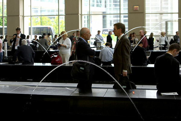 Chicago, IL - ASCO 2007 - Attendees pictured Saturday, June 2, 2007, during the American Society of Clinical Oncology's (ASCO) 43rd Annual Meeting. The meeting attracts more than 25,000 oncologists, researchers, and cancer care professionals from more than 100 countries. Date: Saturday June 2, 2007. Credit: Photo Courtesy © ASCO/Todd Buchanan 2007. ASCO Contact: Tiffany Reynolds/Communications Dept.; 703-519-1423. Technical Questions: todd@toddbuchanan.com; 612-226-5154.