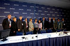 Chicago, IL - ASCO 2007 - Leaders of the American Society of Clinical Oncology (ASCO), patient advocates, and Directors of the National Cancer Institute's Cooperative Groups gather at the Opening Press Briefing, Friday June 1, 2007 during the American Society of Clinical Oncology's (ASCO) 43rd Annual Meeting. The meeting attracts more than 25,000 oncologists, researchers, and cancer care professionals from more than 100 countries. Date: Friday June 1, 2007. Credit: Photo Courtesy © ASCO/Todd Buchanan 2007. ASCO Contact: Tiffany Reynolds/Communications Dept.; 703-519-1423. Technical Questions: todd@toddbuchanan.com; 612-226-5154.