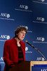 Chicago, IL - ASCO 2008: Nancy Davidson, MD, President of ASCO, speaks at the Opening Press Briefing on Friday, May 30, 2008, during the American Society of Clinical Oncology's (ASCO) 44th Annual Meeting. The meeting attracts more than 25,000 oncologists, cancer researchers and cancer care professionals from more than 100 countries. Date: Friday, May 30, 2008 Photo by © ASCO/Todd Buchanan 2008 ASCO Contact: Tiffany Reynolds/Communications Dept.; 703-519-1423. Technical Questions: todd@toddbuchanan.com; Phone: 612-226-5154.