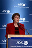 Chicago, IL - ASCO 2008: Nancy Davidson, MD, President of ASCO, speaks at the Opening Press Briefing on Friday, May 30, 2008, during the American Society of Clinical Oncology's (ASCO) 44th Annual Meeting. The meeting attracts more than 25,000 oncologists, cancer researchers and cancer care professionals from more than 100 countries. Date: Friday May 30, 2008 Photo by © ASCO/Todd Buchanan 2008 ASCO Contact: Tiffany Reynolds/Communications Dept.; 703-519-1423. Technical Questions: todd@toddbuchanan.com; Phone: 612-226-5154.