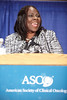 Orlando, FL - ASCO 2009 Annual Meeting: Olufunmilayo Olopade, M.B.B.S. receives the American Cancer Society Award & Lecture at the American Society for Clinical Oncology Annual Meeting here today, Monday June 1, 2009. Over 25,000  physicians, researchers and healthcare professionals from over 80 countries are attending the meeting which is being held at the Orange County Convention center and features the latest cancer  research in the areas of basic and clinical science. Date: Monday June 1, 2009 Photo by © ASCO/Zach Boyden-Holmes 2009 Technical Questions: todd@toddbuchanan.com; Phone: 612-226-5154.
