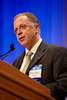 Orlando, FL - ASCO 2009 Annual Meeting: Andrew D Seidman, MD discusses Abstract 1000 - Phase III trial of gemcitabine plus docetaxel (GD) compared to capecitabine plus docetaxel (CD) with planned crossover to the alternate single agent in metastatic breast cancer (MBC). during the Oral Presentation at the American Society for Clinical Oncology Annual Meeting here today, Monday June 1, 2009. Over 25,000  physicians, researchers and healthcare professionals from over 80 countries are attending the meeting which is being held at the Orange County Convention center and features the latest cancer  research in the areas of basic and clinical science. Date: Monday June 1, 2009 Photo by � ASCO/Scott Morgan 2009 Technical Questions: todd@toddbuchanan.com; Phone: 612-226-5154.