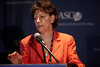 Chicago, IL - 2010 ASCO Annual Meeting: Lynn Schuchter, MD, moderates the Novel Therapies Press Conference at the American Society of Clinical Oncology Annual Meeting on Saturday, June 5, 2010. Over 32,000 physicians, researchers and healthcare professionals from over 100 countries attended the meeting, which was held at McCormick Place and featured the latest innovations in cancer research, quality, practice and technology. Date: Saturday June 5, 2010 Photo by © ASCO/Scott Morgan 2010 Technical Questions: todd@toddbuchanan.com; ASCO Contact: photos@asco.org