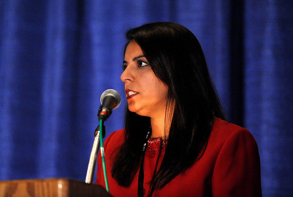 "Chicago, IL - 2010 ASCO Annual Meeting: Arti Hurria speaks during the ""Clinical Science Symposium, Geriatric Oncology, Patient and Survivor Care"" session at the American Society of Clinical Oncology Annual Meeting on Saturday, June 5, 2010. Over 32,000 physicians, researchers and healthcare professionals from over 100 countries attended the meeting, which was held at McCormick Place and featured the latest innovations in cancer research, quality, practice and technology. Date: Saturday June 5, 2010 Photo by © ASCO/Phil McCarten 2010 Technical Questions: todd@toddbuchanan.com; ASCO Contact: photos@asco.org"