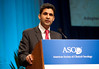 Chicago, IL - 2010 ASCO Annual Meeting:  Karim Fizazi, MD, speaks during the Genitourinary Cancer (Prostate) Session at the American Society of Clinical Oncology Annual Meeting on Sunday, June 6, 2010. Over 32,000 physicians, researchers and healthcare professionals from over 100 countries attended the meeting, which was held at McCormick Place and featured the latest innovations in cancer research, quality, practice and technology. Date: Sunday June 6, 2010 Photo by © ASCO/Chris Salata 2010 Technical Questions: todd@toddbuchanan.com; ASCO Contact: photos@asco.org