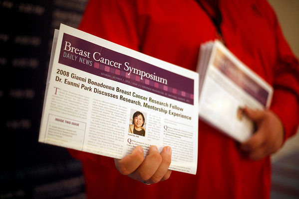 National Harbor, MD - ASCO 2010 Breast Cancer Symposium  - The Daily News bin in the Prince George's Hall B Lobby during the 2010 ASCO Breast Cancer Symposium here today, Saturday October 2, 2010 at the Gaylord Hotel in suburban Washington, D.C. Date: Saturday October 2, 2010 Photo by ¨© ASCO/Zach Boyden-Holmes 2010 Technical Questions: todd@toddbuchanan.com; Phone: 612-226-5154.