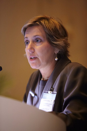 Chicago, IL - ASCO 2011 Annual Meeting:  Paula M. Fracasso  speaks during the CSS: Personalized Medicine at the American Society for Clinical Oncology Annual Meeting here today, Friday June 3, 2011. Over 25,000  physicians, researchers and healthcare professionals from over 100 countries are attending the meeting which is being held at the McCormick Convention center and features the latest cancer research in the areas of basic and clinical science. Date: Friday June 3, 2011 Photo by © GMG/Scott Morgan 2011 Technical Questions: todd@toddbuchanan.com; ASCO Contact: photos@asco.org Event Name: CSS: Personalized Medicine