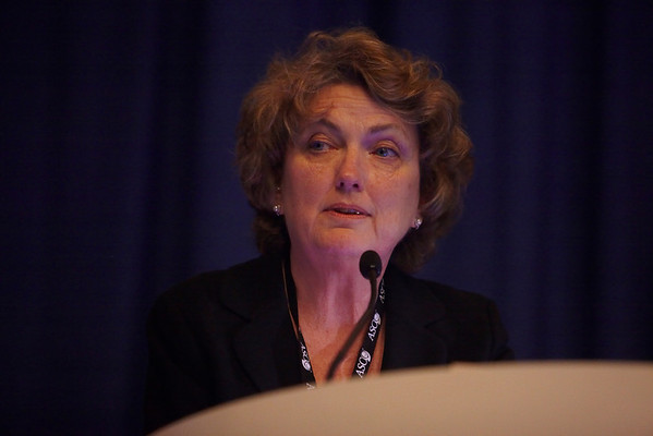 Chicago, IL - ASCO 2011 Annual Meeting:  Carol Fabian  speaks during the Extended Education - Biomarkers for early detection at the American Society for Clinical Oncology Annual Meeting here today, Friday June 3, 2011. Over 25,000  physicians, researchers and healthcare professionals from over 100 countries are attending the meeting which is being held at the McCormick Convention center and features the latest cancer research in the areas of basic and clinical science. Date: Friday June 3, 2011 Photo by © GMG/Silas Crews 2011 Technical Questions: todd@toddbuchanan.com; ASCO Contact: photos@asco.org Event Name: Extended Education - Biomarkers for early detection