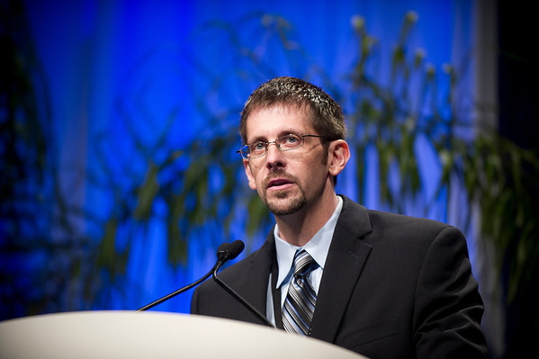 Chicago, IL - ASCO 2011 Annual Meeting:  Dr. Schneider  speaks during the Host Genomics and Treatment Outcomes in Breast Cancer at the American Society for Clinical Oncology Annual Meeting here today, Saturday June 4, 2011. Over 25,000  physicians, researchers and healthcare professionals from over 100 countries are attending the meeting which is being held at the McCormick Convention center and features the latest cancer research in the areas of basic and clinical science. Date: Saturday June 4, 2011 Photo by © GMG/Zach Boyden-Holmes 2011 Technical Questions: todd@toddbuchanan.com; ASCO Contact: photos@asco.org Event Name: Host Genomics and Treatment Outcomes in Breast Cancer